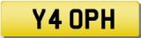 PH 4 OPH 40 FORTY INITIALS Private CHERISHED Registration Number Plate